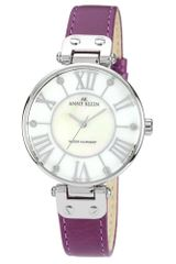 Anne Klein Purple Lambskin Leather Strap 34mm 10 - Lyst
