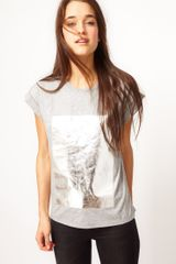 ASOS Collection  T-shirt with Foil Print - Lyst