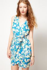 ASOS Collection Asos Wrap Dress with Pretty Floral - Lyst