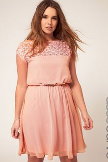 Asos Asos Curve Skater Dress with Daisy Lace - Lyst
