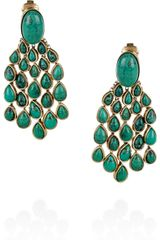 Aurelie Bidermann Cherokee 18karat Goldplated Turquoise Clip Earrings - Lyst