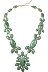 Aurelie Bidermann Cherokee 18karat Goldplated Turquoise Necklace - Lyst