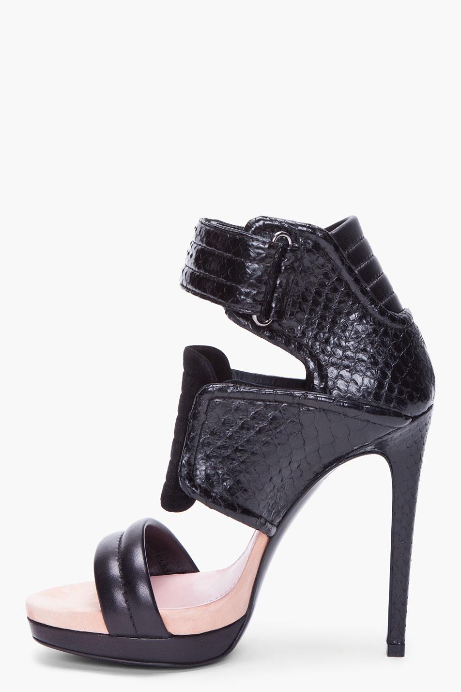 BARBARA BUI Leather High Heel GBM5xU3Yg