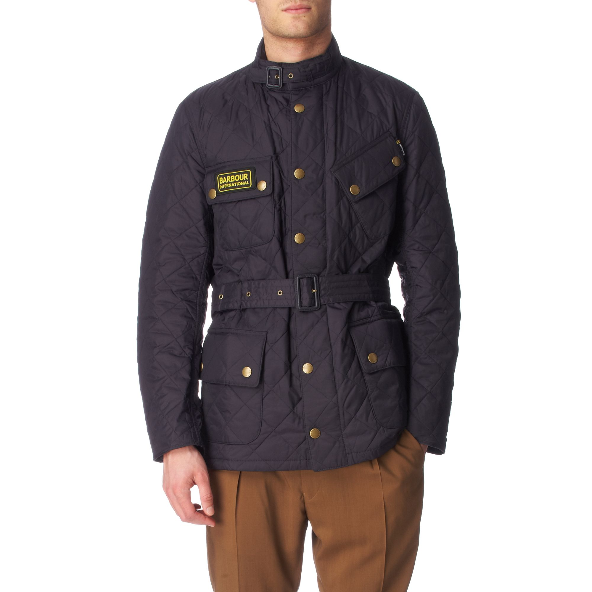 Lyst Barbour International Quilted Jacket In Blue For Men