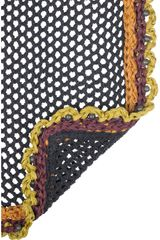 Burberry Prorsum Crocheted Silk Blend Scarf in Multicolor (multicolored) - Lyst