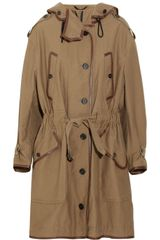 Burberry Prorsum Leather trimmed Cottonblend Jacket - Lyst