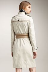 Burberry Rope-trim Gabardine Trenchcoat - Lyst
