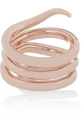 Chloé Stacy Brass Snake Ring in Gold (snake) - Lyst