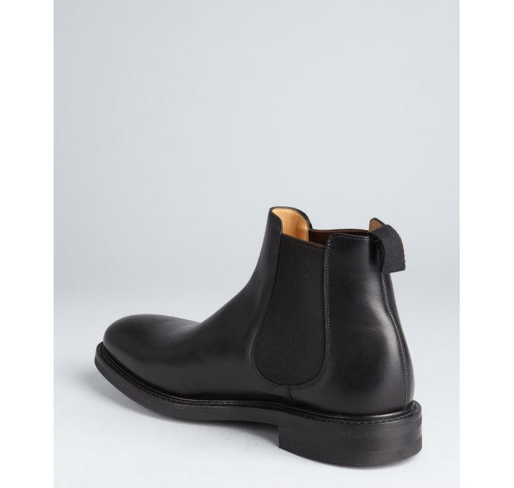 Lyst Church S Black Leather Goodward Ankle Boots In