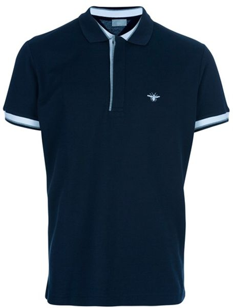 Dior Classic Polo in Blue for Men - Lyst