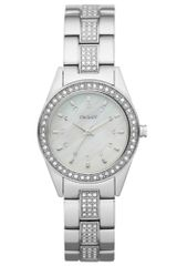 DKNY Womens Crystal Accent Stainless Steel Bracelet - Lyst