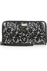 Dolce & Gabbana Pvccoated Lace and Leather Wallet in Black - Lyst