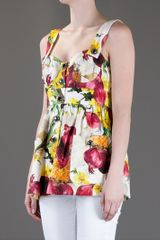 Dolce & Gabbana Floral Top in Multicolor (floral) - Lyst