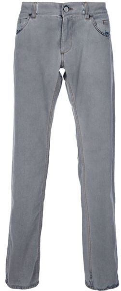 Dolce & Gabbana Straight Leg Jeans in Gray for Men (grey) - Lyst
