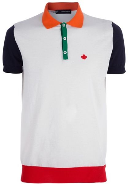 Dsquared2 Polo Shirt in White for Men - Lyst
