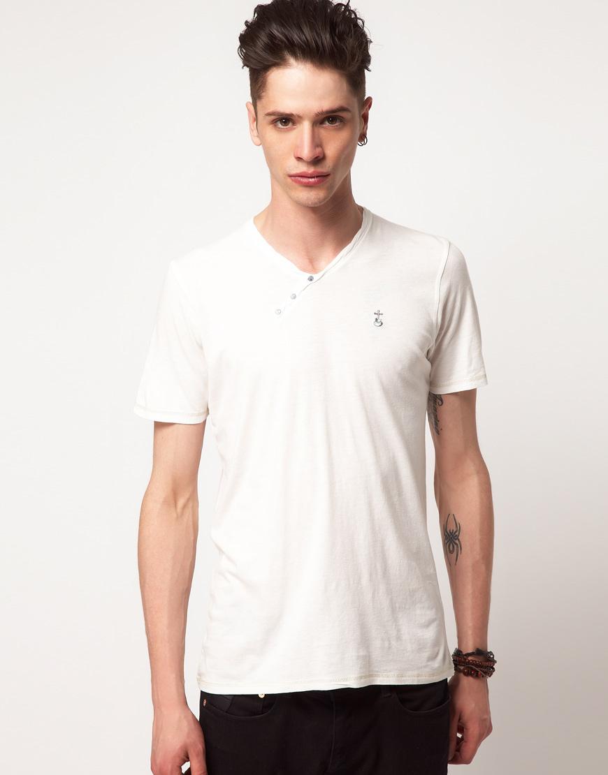 Elvis Jesus Elvis Jesus Hackney Basic Tshirt In White For