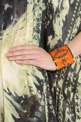 Emilio Pucci Goldplated Plexiglass Cuff in Orange (gold) - Lyst