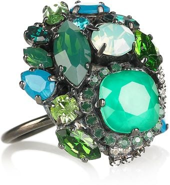 Erickson Beamon Bossa Nova Silverplated Swarovski Crystal Ring - Lyst