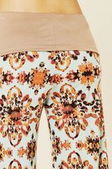 Free People Printed Beach Pant in Floral (demure) - Lyst