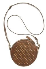 Frye Brooke Stud Crossbody Bag in Brown - Lyst