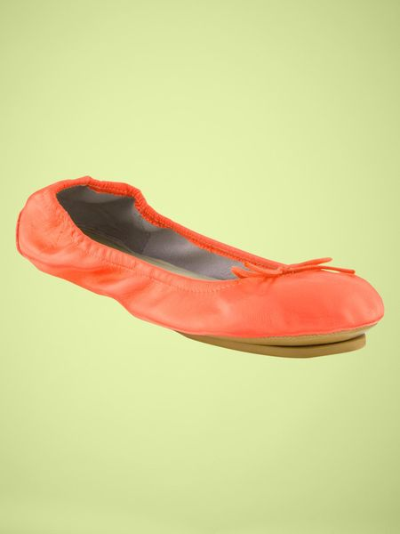 Gap Neon City Flats in Orange (neon orange) - Lyst
