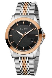Gucci Mens Swiss Gtimeless Rose Gold Tone and Stainless Steel Bracelet 38mm - Lyst