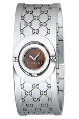 Gucci Womens Twirl Collection Stainless Steel Bangle Bracelet 16mm - Lyst