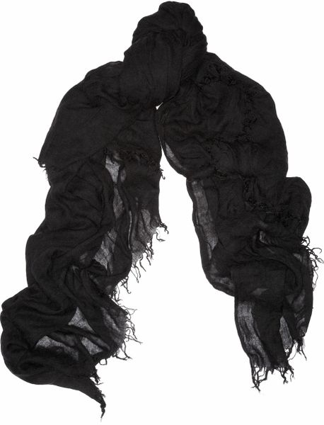 Isabel Marant Sam Fineknit Scarf in Black - Lyst