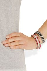 Isabel Marant Mad Mum Amp Flass Set Of Two Cuffs in White (silver) - Lyst