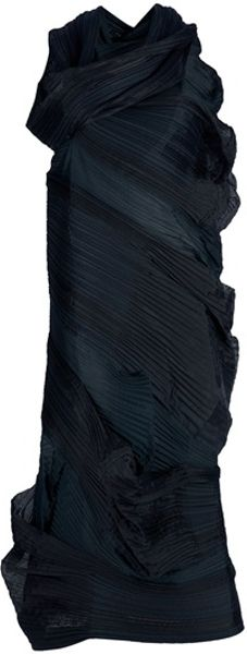 Issey Miyake Draped Dress in Black