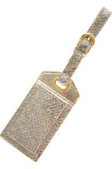 Jimmy Choo Teddy Glitter and Leather Luggage Tag - Lyst