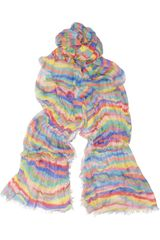 Jimmy Choo Sita Striped Cashmere and Silkblend Scarf - Lyst