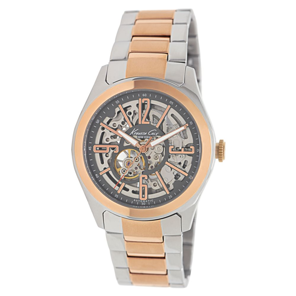 kenneth cole mens automatic two tone stainless steel