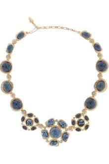 Kenneth Jay Lane 22-karat Goldplated Crystal Necklace - Lyst
