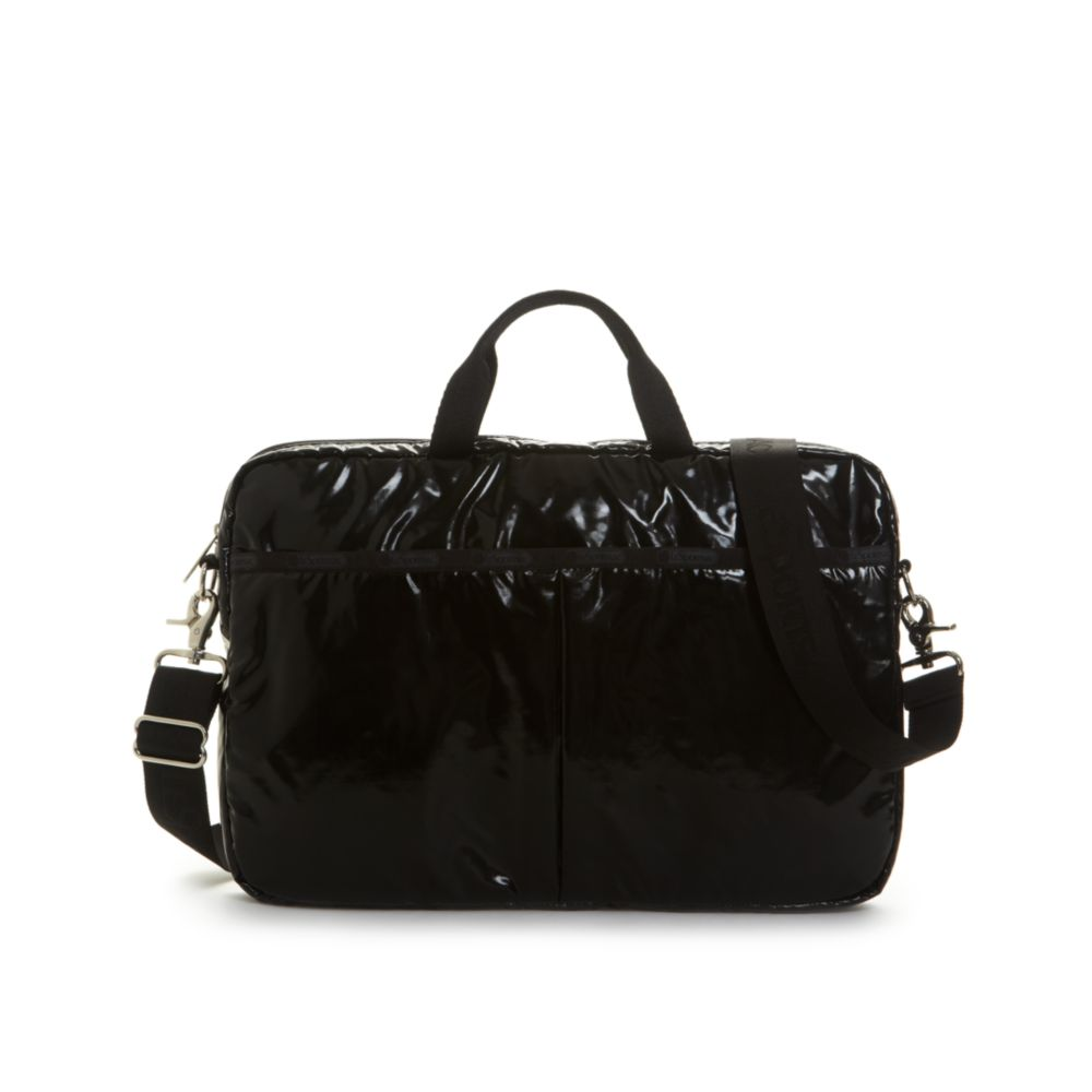 lesportsac 15 laptop bag in black black patent lyst