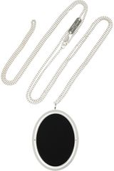 Maison Martin Margiela Silverplated Brass Oval Necklace - Lyst