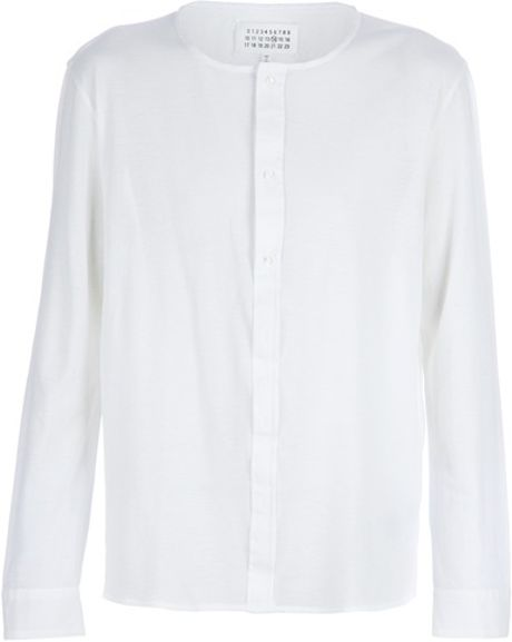 Maison Martin Margiela Round Neck Top in White for Men - Lyst