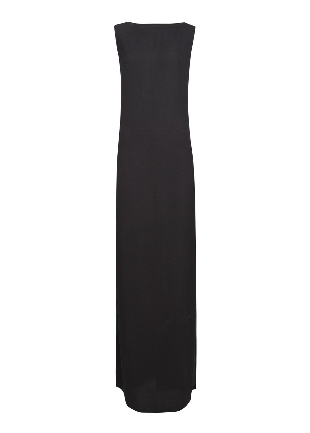 Lyst Mango Straight Cut Long Dress In Black