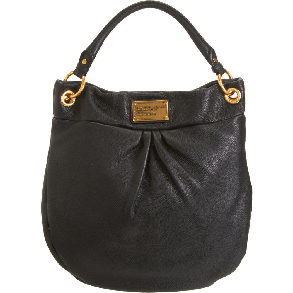 marc by marc jacobs classic q hillier hobo in black gold lyst. Black Bedroom Furniture Sets. Home Design Ideas
