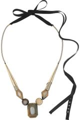Marni Brass Horn and Resin Necklace - Lyst