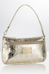 Michael By Michael Kors Jet Set Monogram Wristlet in Gold (jet) - Lyst