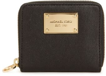 Michael Kors Jet Set Gold Ziparound Small Coin Purse - Lyst