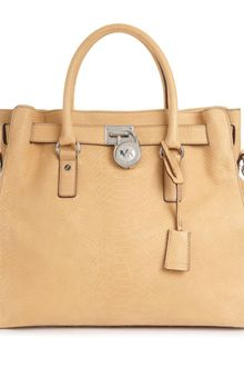 Michael Kors Hamilton Silver Hardware Python North South Tote - Lyst