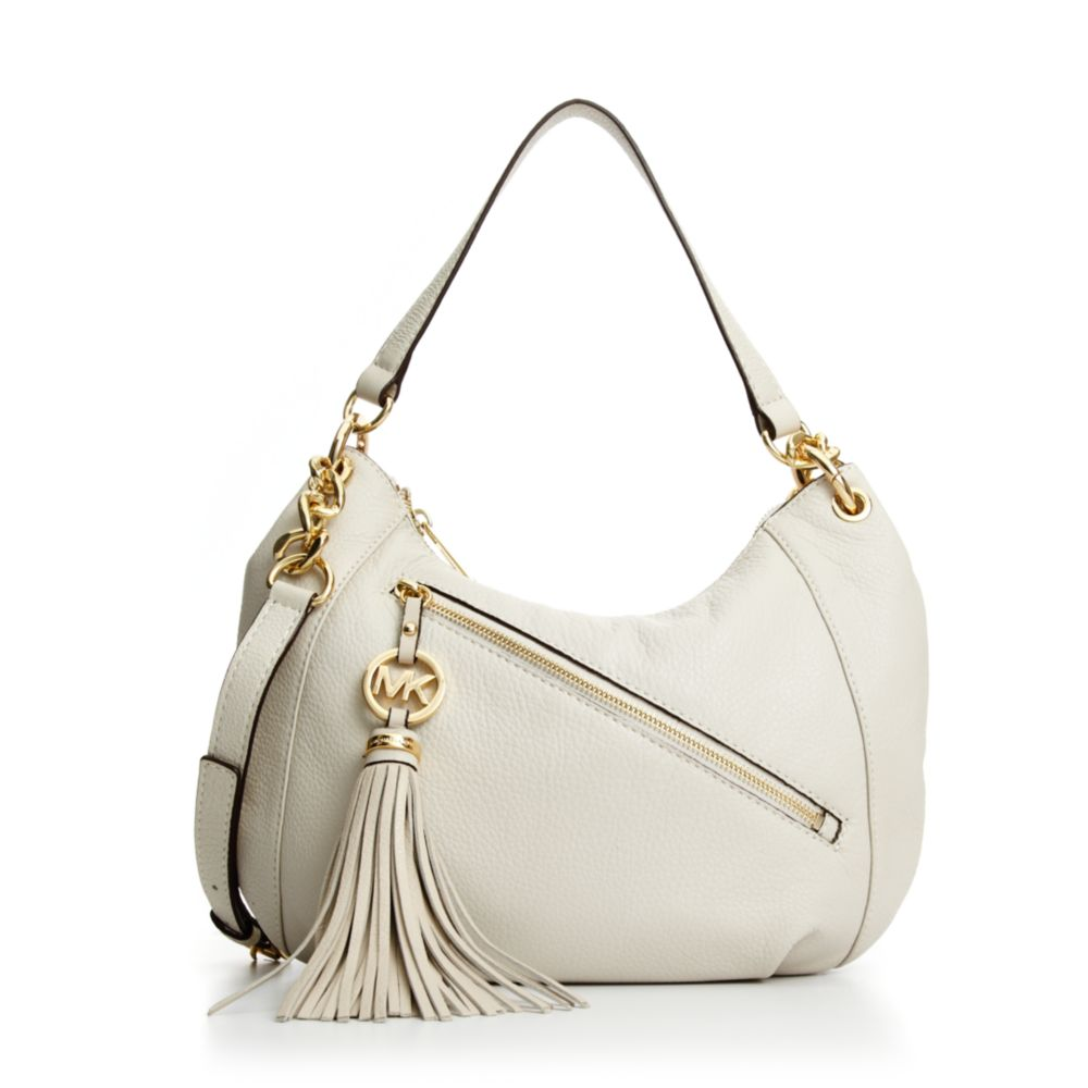 7a591250cc93bc store michael kors bags mk wallet poshmark 7f57b 83126; new zealand lyst  michael kors charm tassel convertible shoulder bag in natural 0db75 ccc59