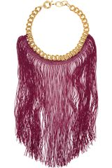 Missoni Goldtone Chain and Fringed Necklace