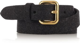 Miu Miu Feltcovered Leather Skinny Belt - Lyst