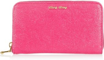 Miu Miu Stringrayeffect Leather Wallet - Lyst