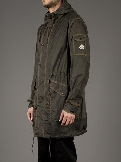 Moncler Bryen Hooded Coat in Green for Men - Lyst a1d323fc62c