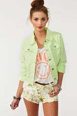 Nasty Gal Neon Denim Jacket