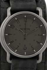 Nixon The Axe Leather and Stainless Steel Watch in Black (steel) - Lyst